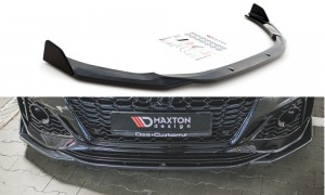 Splitter przedni + flapsy V1 Audi RS5 F5 Facelift (carbon look)